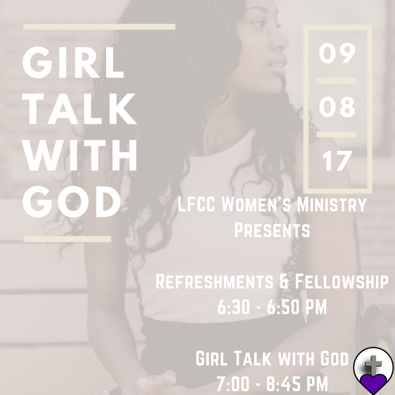 LFCC Women's Event Girl Talk with God 2017